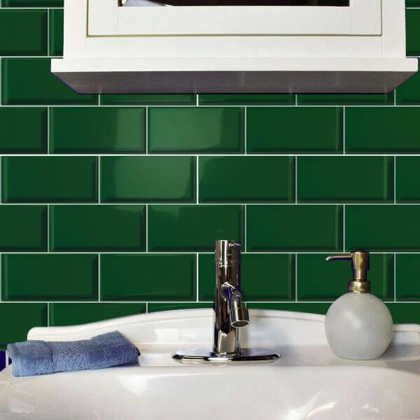 Ceramica Ribesalbes Verde Botella Biselado Brillo 100x200mm_Stiles_Lifestyle_Image