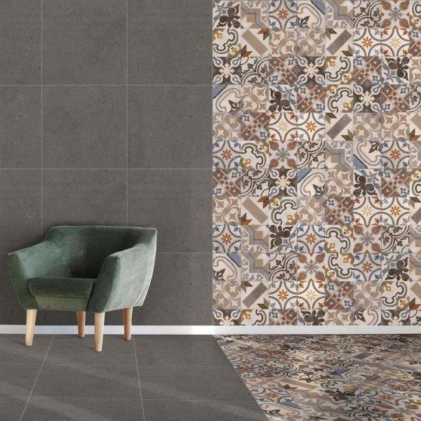 Ceramic Industries Mzansi Nostalgia Charcoal Eco SR 600x600mm_Stiles_Lifestyle_Image