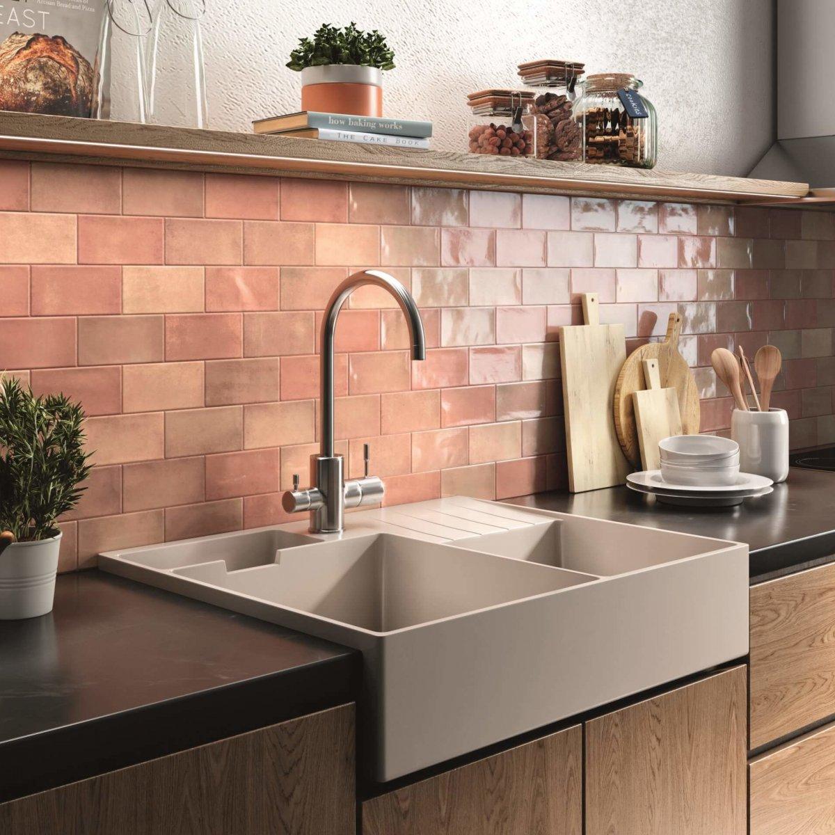 Ceramica Ribesalbes Earth Rosebud Gloss 75x300mm_Stiles_Lifestyle_Image
