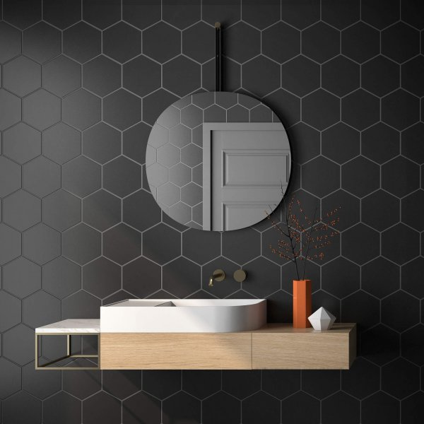 Geotiles Solid Black 258x290mm_Stiles_Lifestyle_Image