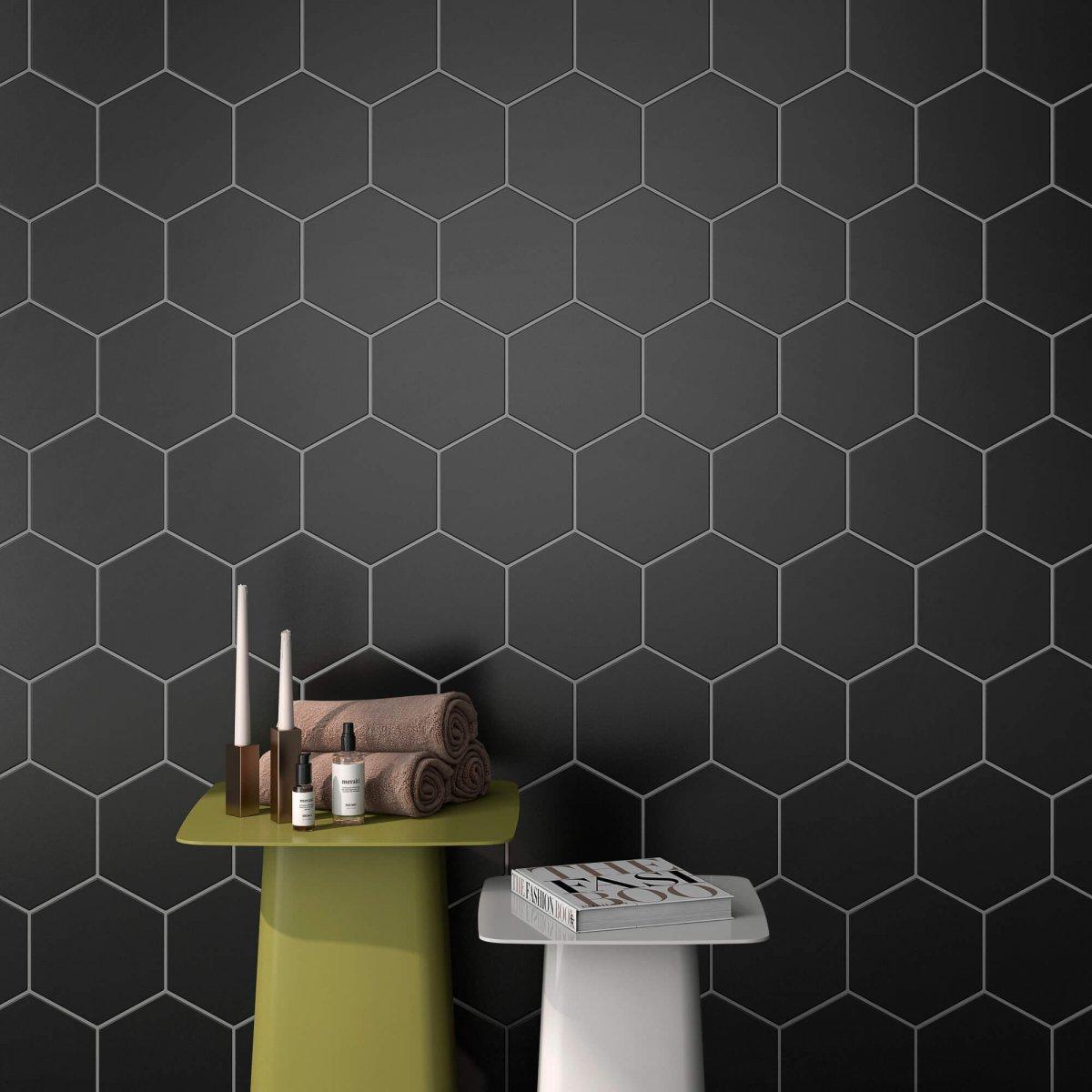 Geotiles Solid Black 258x290mm_Stiles_Lifestyle_Image2