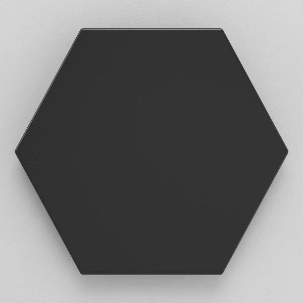 Geotiles Solid Black 258x290mm_Stiles_Product_Image