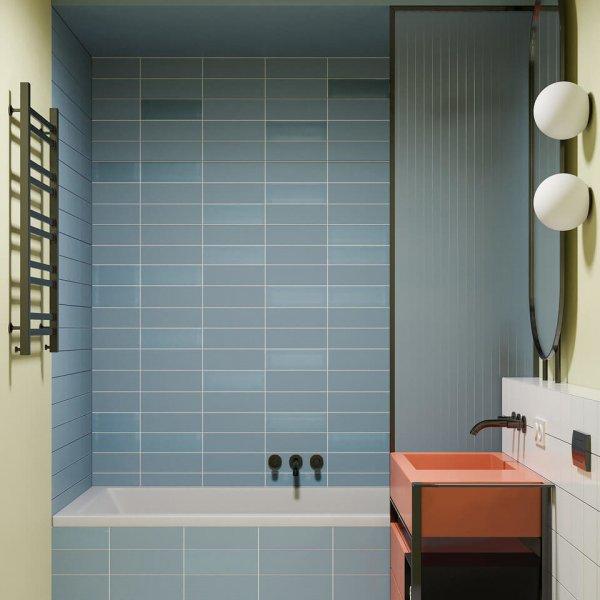 Mosaico Vero Aquarella Turkish Blue Matt 75x300mm_Stiles_Lifestyle_Image