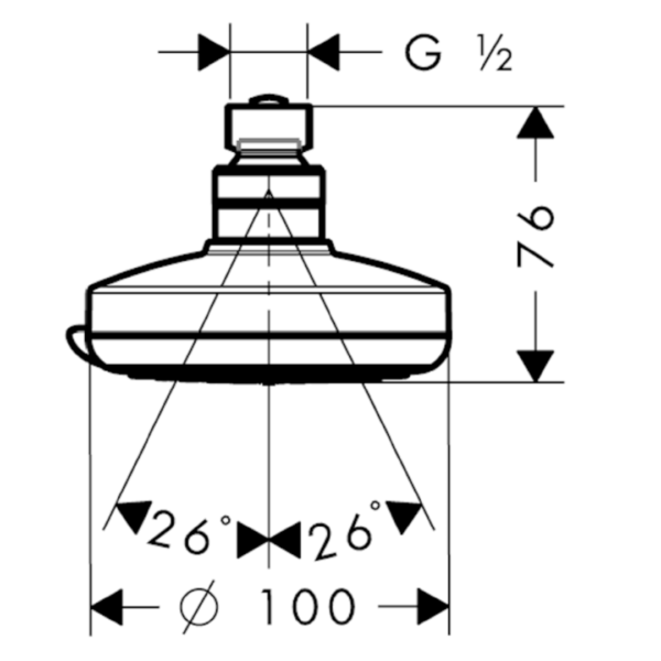 27441000-Hansgrohe-Croma-100-Shower-Rose-100mm_Stiles_TechDrawing_Image