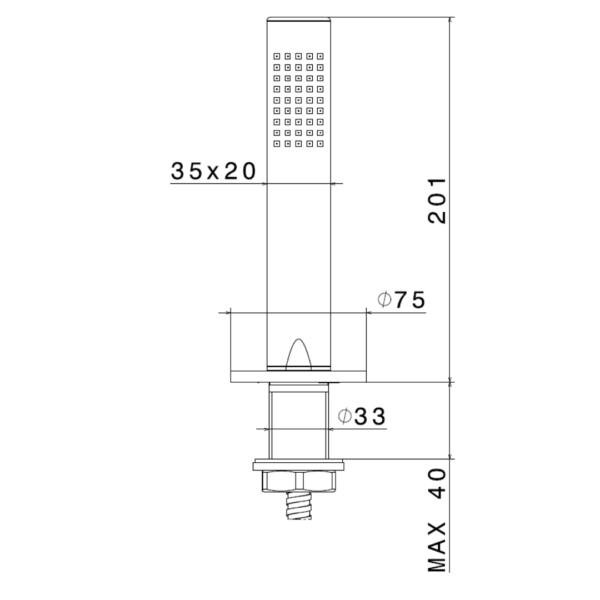 65893 N Linfa II Hand Shower Set_Stiles_TechDrawing_Image