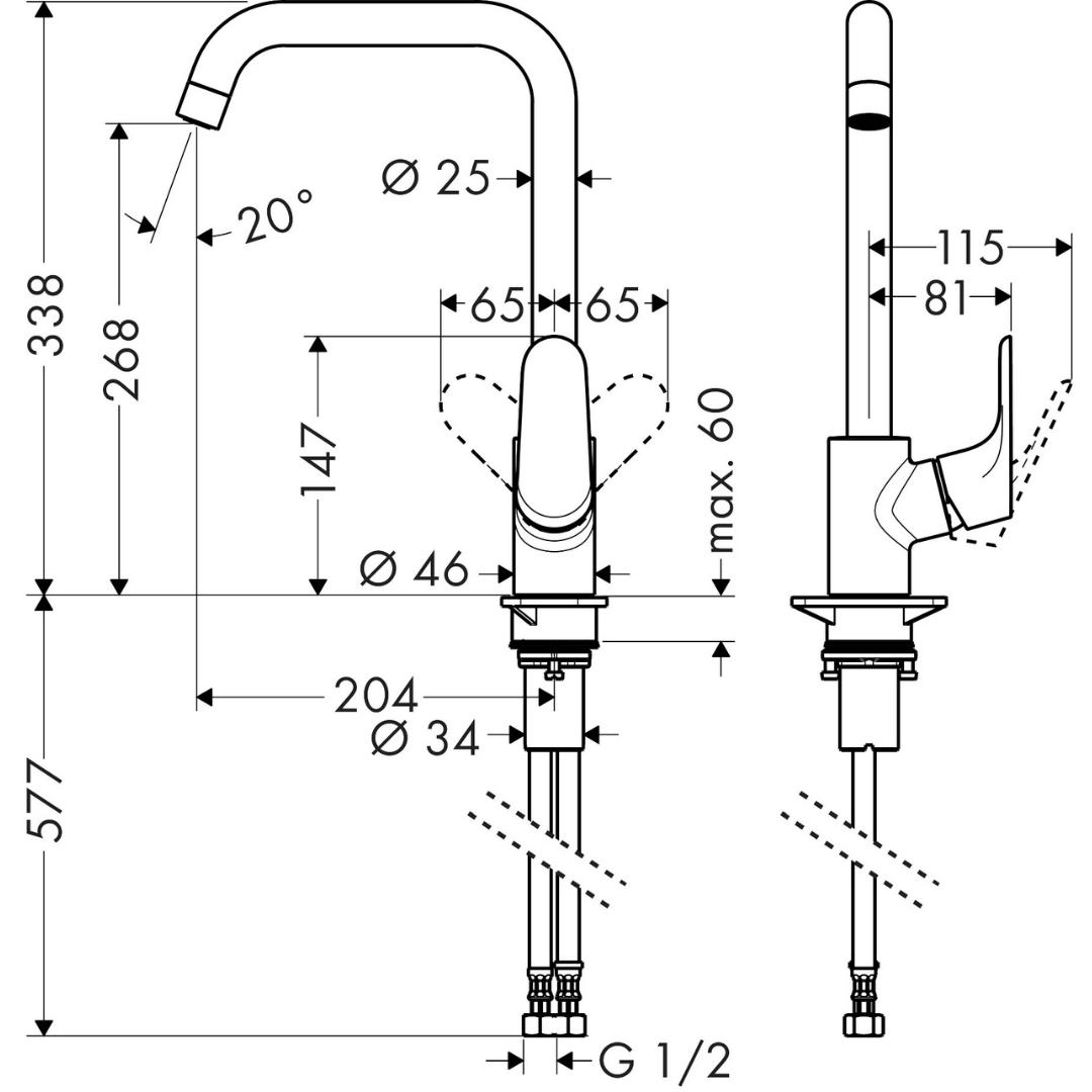 31820223-Hansgrohe-Decor-Sink-Mixer_Stiles_TechDrawing_Image