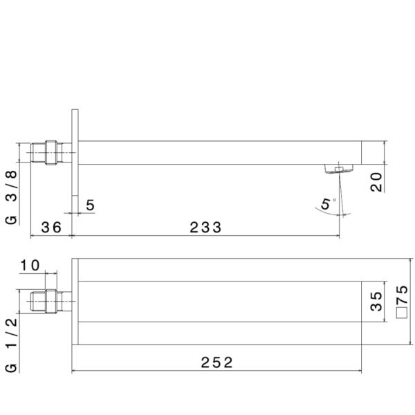 66438-N-Ergo-Q-Basin-Spout_Stiles_TechDrawing_Image