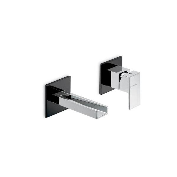 66530EB N Ergo Open Matt Black and Chrome Basin Set_Stiles_Product_Image