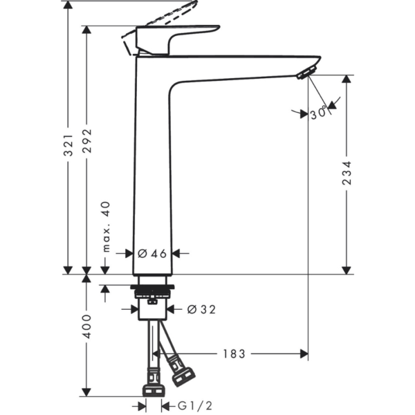71717003-Hansgrohe-Talis-E-Basin-Mixer-240mm_Stiles_TechDrawing_Image-600x600