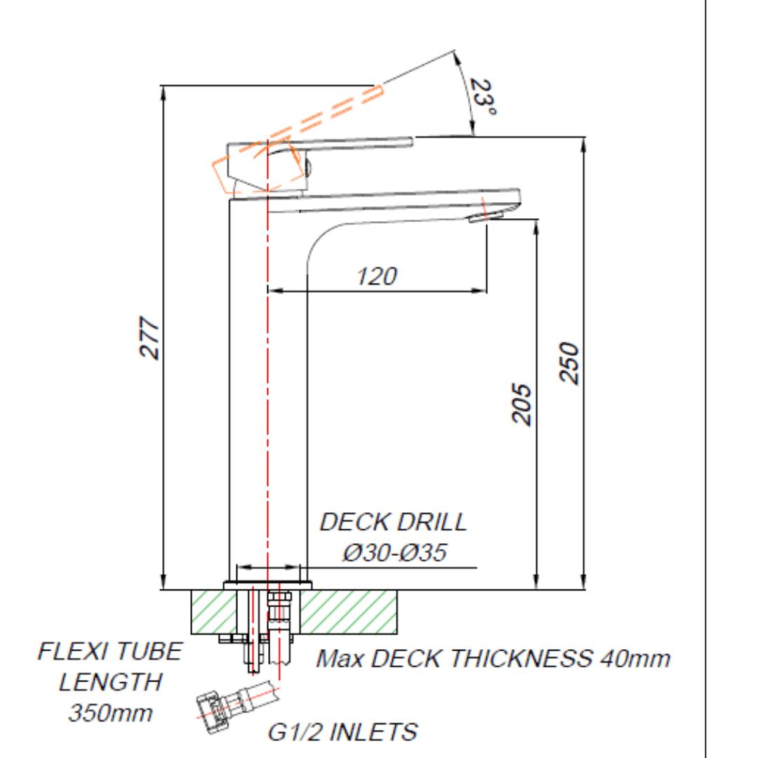BA00012_BLUTIDE-BAY-BASIN-MIXER-RAISED-210mm_Stiles_TechDrawing_Image