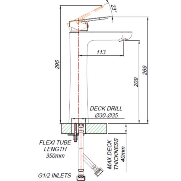 BT00012_BLUTIDE-BORE-BASIN-MIXER-RAISED-210mm_Stiles_TechDrawing_Image