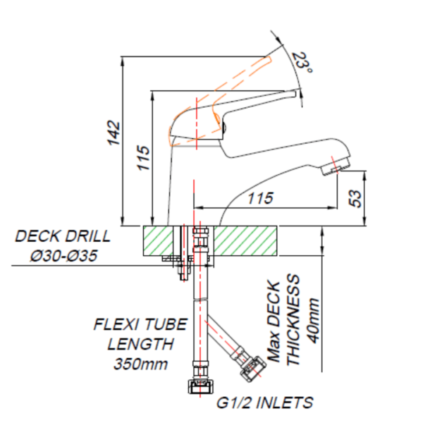 MT00010_BLUTIDE MIXED Loop BASIN MIXER_Stiles_TechDrawing_Image