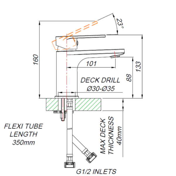 SH00010_BLUTIDE SHORE BASIN MIXER 90mm_Stiles_TechDrawing_Image