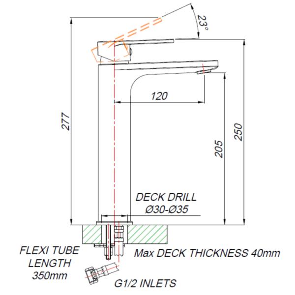 SH00012_BLUTIDE-SHORE-BASIN-MIXER-RAISED-210mm_Stiles_TechDrawing_Image