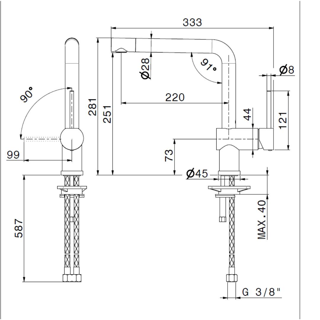 3100.2 Newform Moony Sink Mixer_Stiles_TechDrawing_Image
