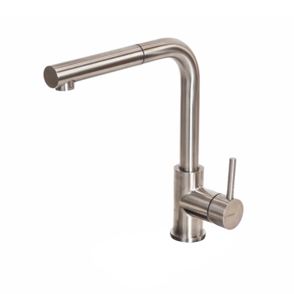 63425X Newform Real Steel Sink Mixer with pull out spout_Stiles_Product_Image