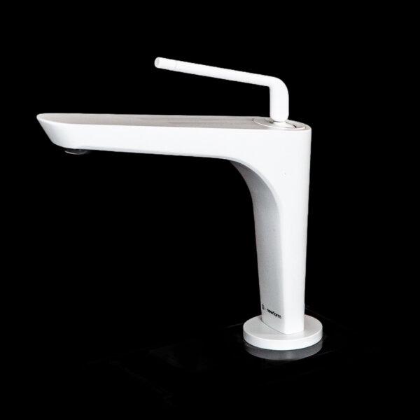 684121 Newform ORama Matt White Basin Mixer_Stiles_Product_Image