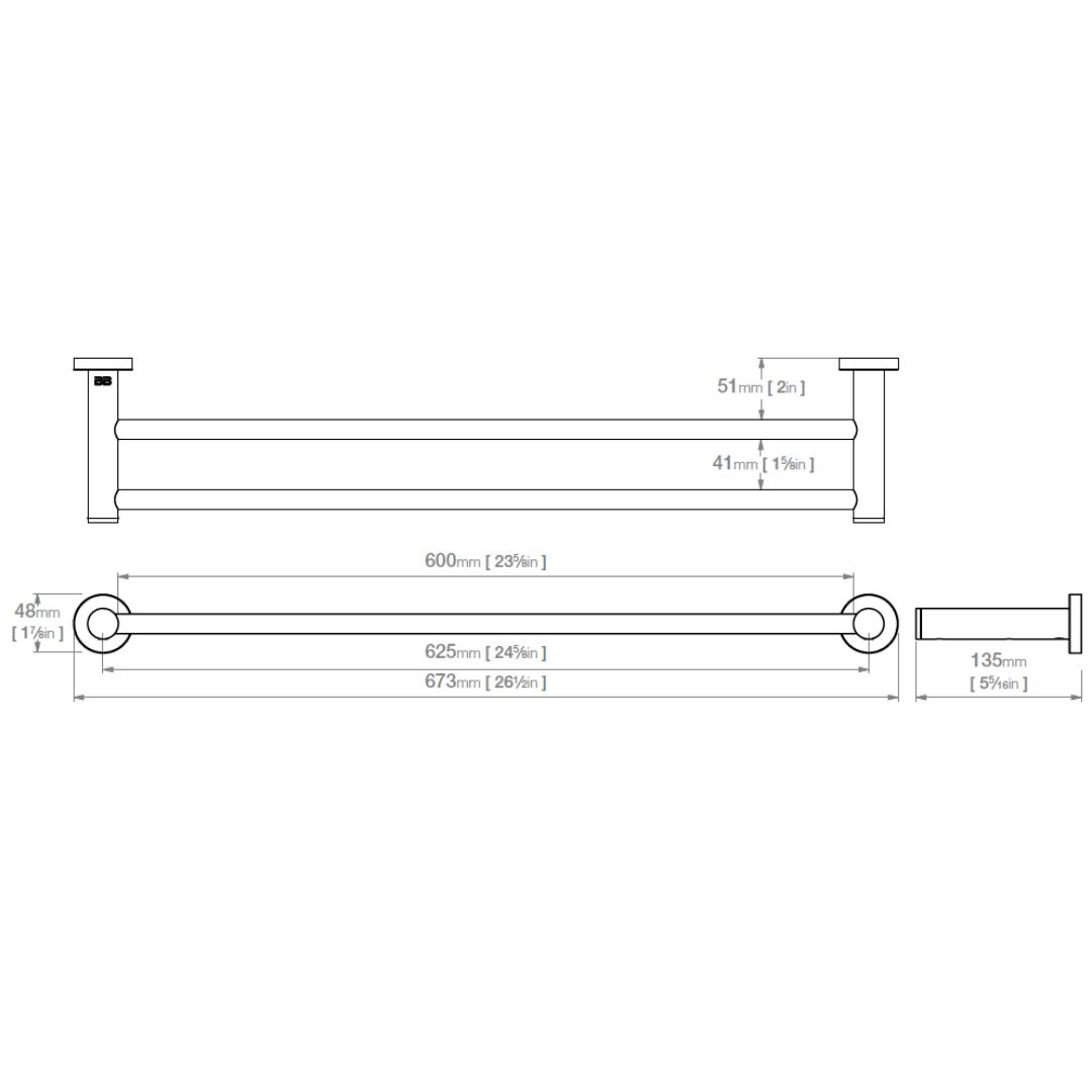 ACC BAT 4682POL SS Double Rail Polished 650mm_Stiles_TechDrawing_Image