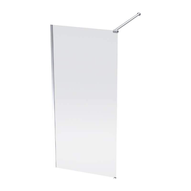 Luximo Lumin silver shower screen 1200x2000x8mm_Stiles_Product_Image