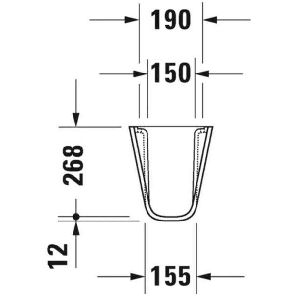 085718 Duravit D-code Siphon Cover_Stiles_TechDrawing_Image1