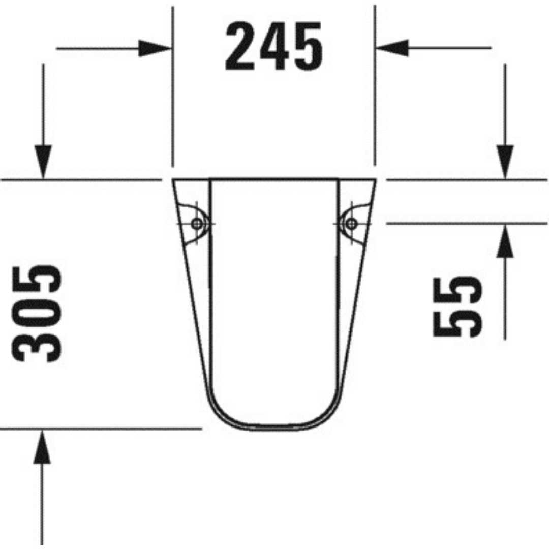 085718 Duravit D-code Siphon Cover_Stiles_TechDrawing_Image2