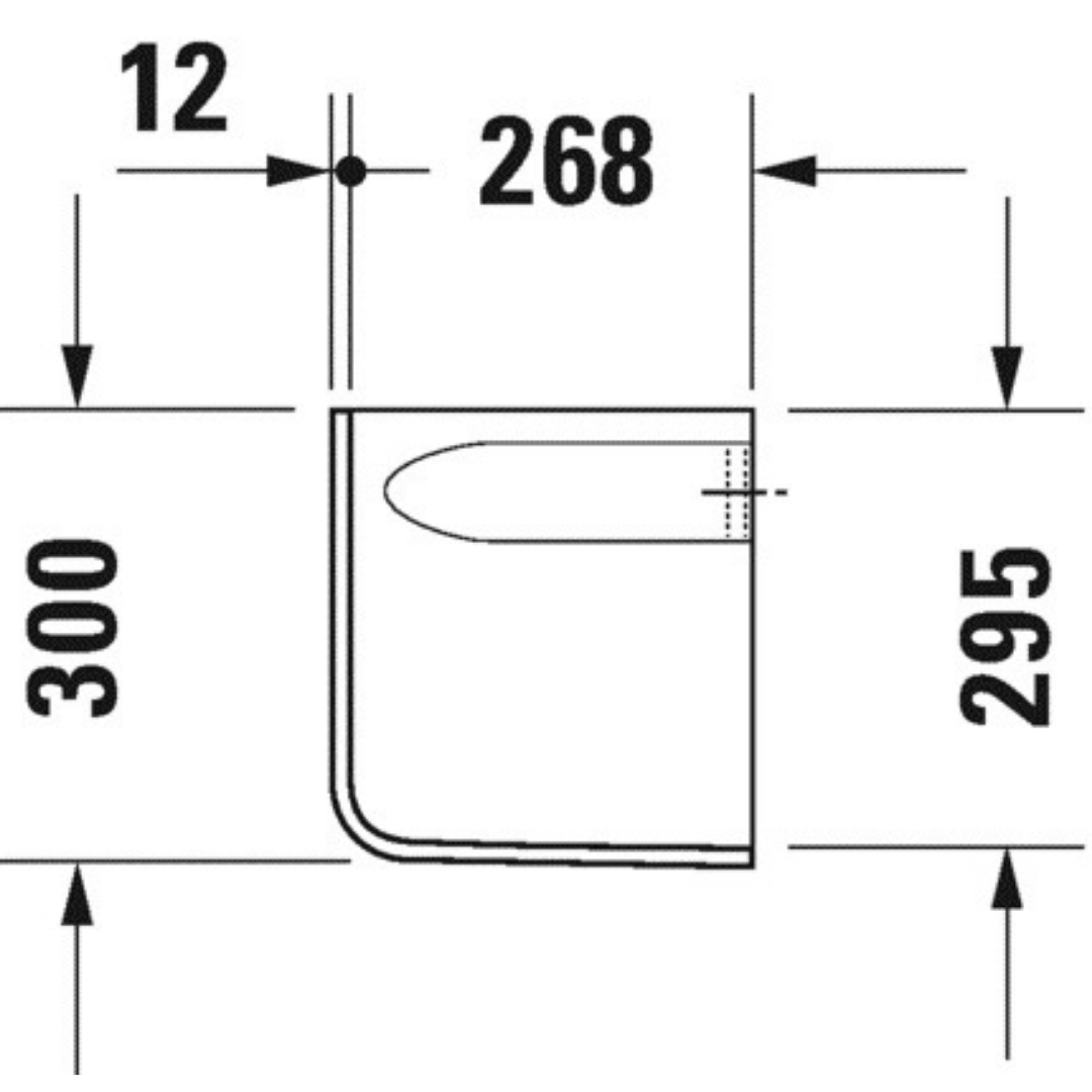 085718 Duravit D-code Siphon Cover_Stiles_TechDrawing_Image3