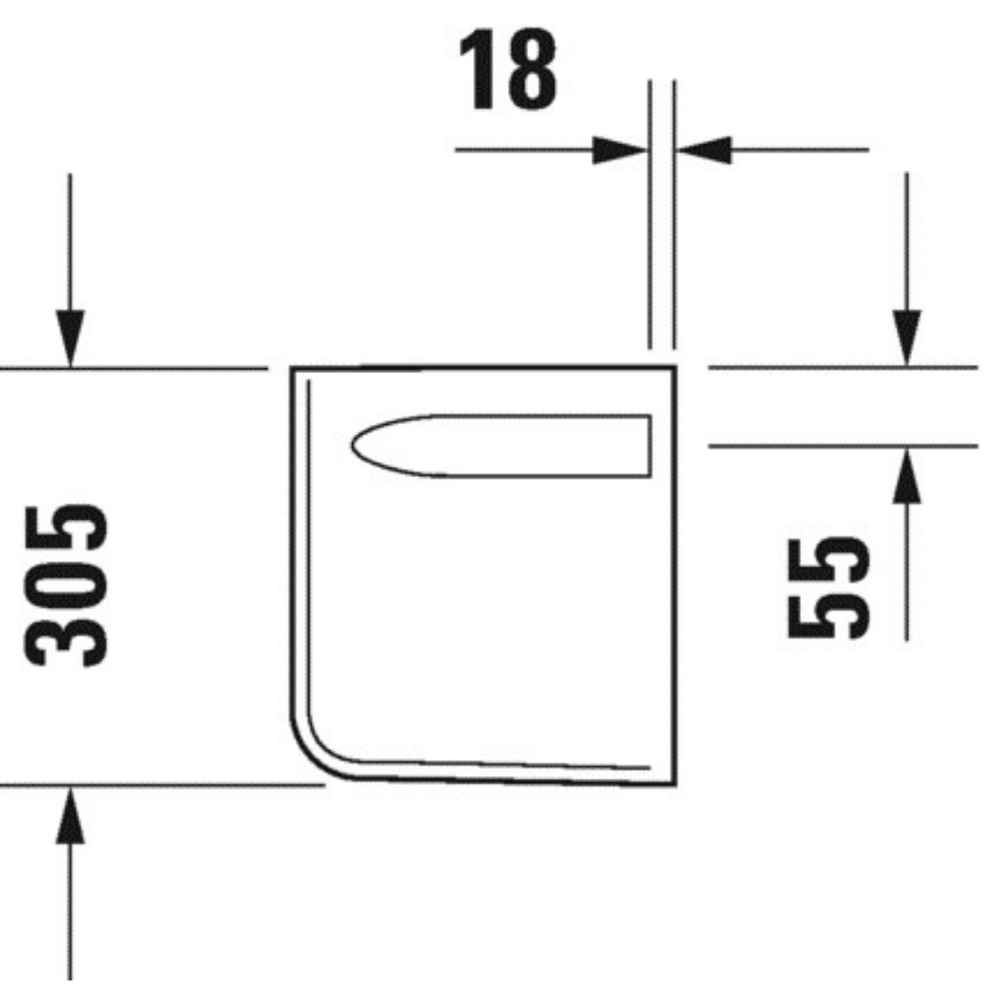 085718 Duravit D-code Siphon Cover_Stiles_TechDrawing_Image4