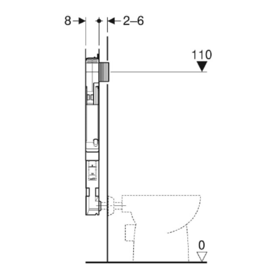 109.175.00.1 Alpha Floor Mounted Concealed Cistern 80mm_Stiles_TechDrawing_Image2