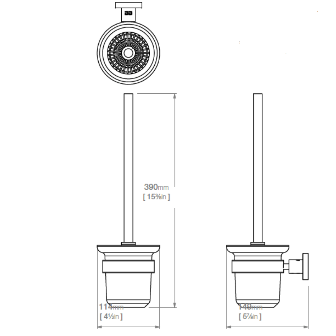 4638 BB SS Polished Toilet Brush and Holder_Stiles_TechDrawing_Image