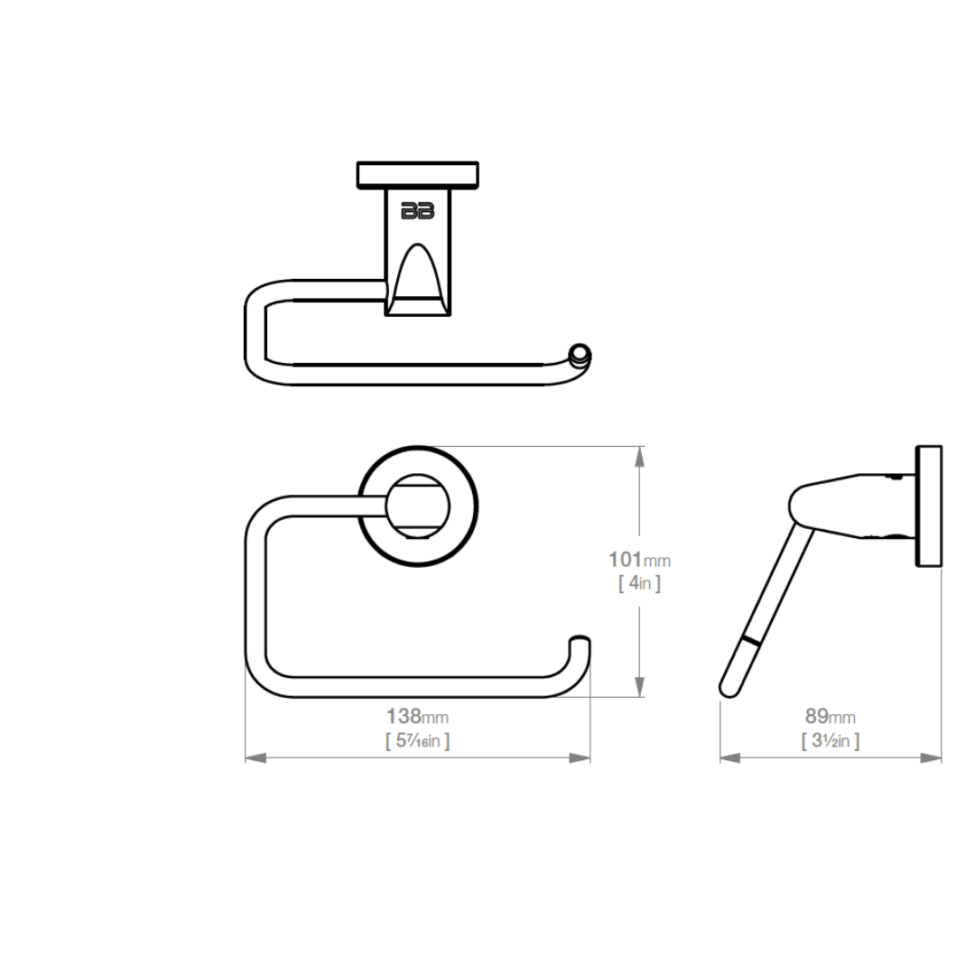 8202 BB SS Polished Paper Holder_Stiles_TechDrawing_Image