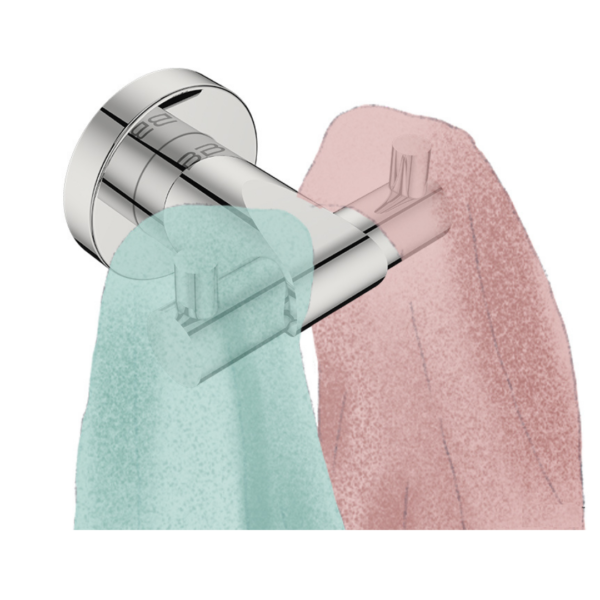 8211 BB SS Polished Double Robe Hook_Stiles_Lifestyle_Image