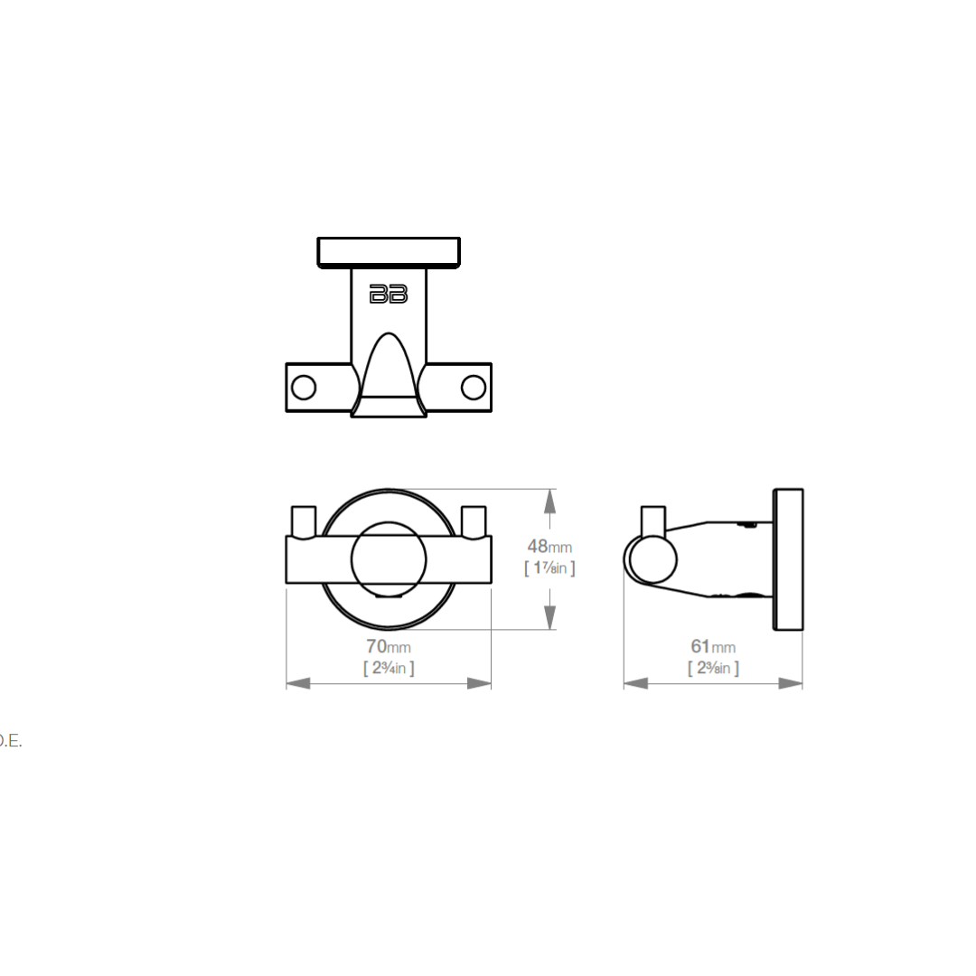 8211 BB SS Polished Double Robe Hook_Stiles_TechDrawing_Image