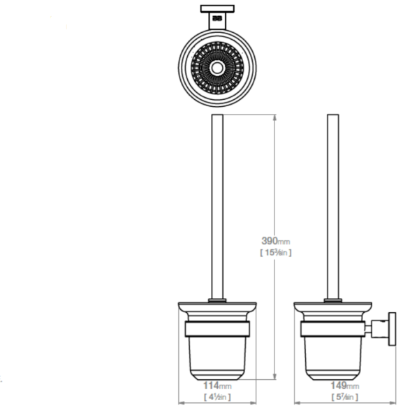 8238 BB SS Polished Toilet Brush and Holder_Stiles_TechDrawing_Image