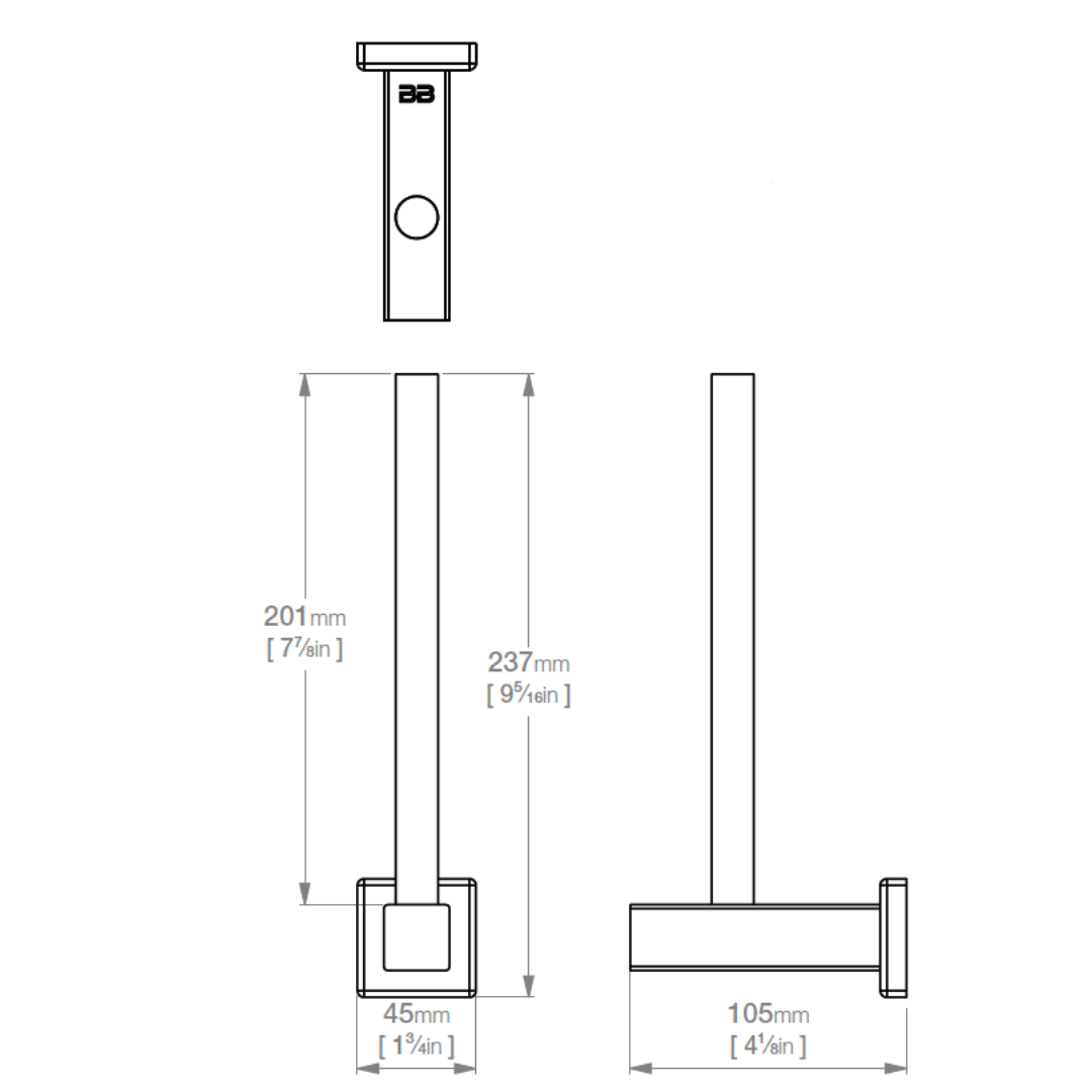 8504 BB SS Polished Spare Paper Holder_Stiles_TechDrawing_Image
