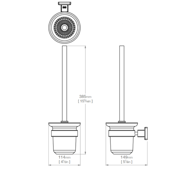 8538 BB SS Polished Toilet Brush And Holder_Stiles_TechDrawing_Image