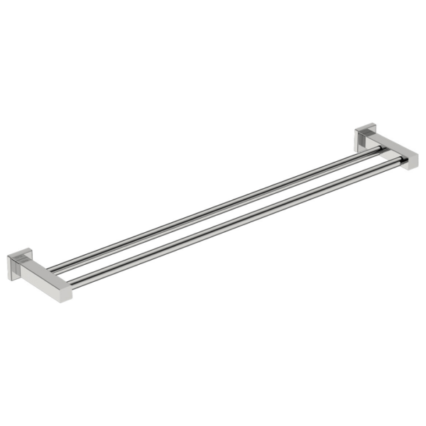 8585 BB SS Polished Double Towel Bar 800mm_Stiles_Product_Image