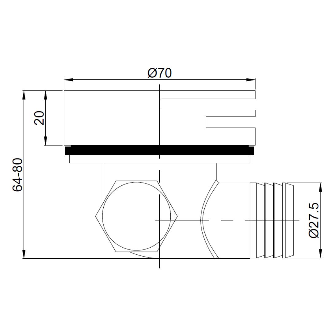 A100MB Gio Bella Square Bath Spout_Stiles_TechDrawing_Image
