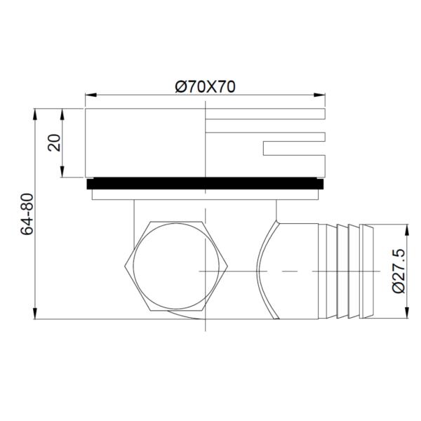 A101 Gio Bella Spout_Stiles_TechDrawing_Image