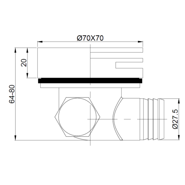 A101MB Gio Bella Spout_Stiles_TechDrawing_Image