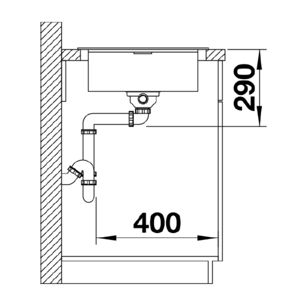 BL00521007 Blanco Flex Pro Sink_Stiles_TechDrawing_Image4