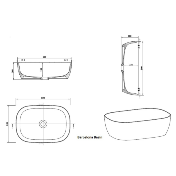 Clear Cuble Barcelona Basin 500x345x160mm_Stiles_TechDrawing_Image