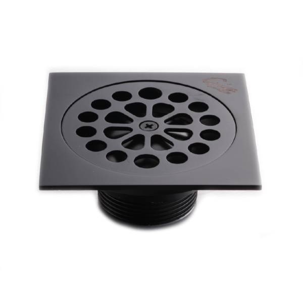 GIO BELLA _A1015-12-MB_SHOWER TRAP ROUND HOLES BLACK_Stiles_Product_Image