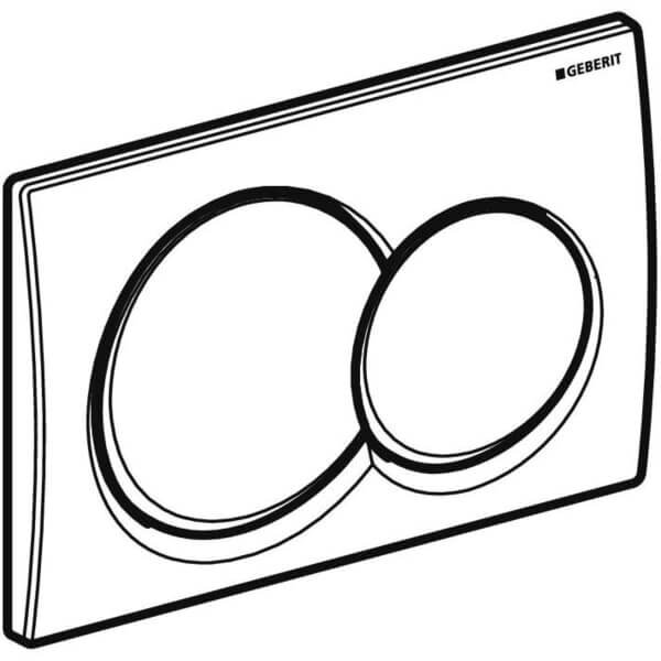 Geberit Alpha 01 White Actuator Plate_Stiles_Techdrawing_Image1