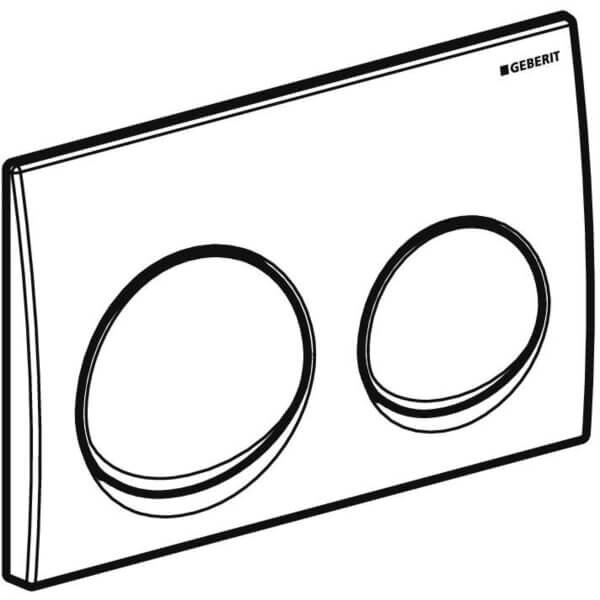 Geberit Alpha 10 White Actuator Plate_Stiles_TechDrawing_Image1