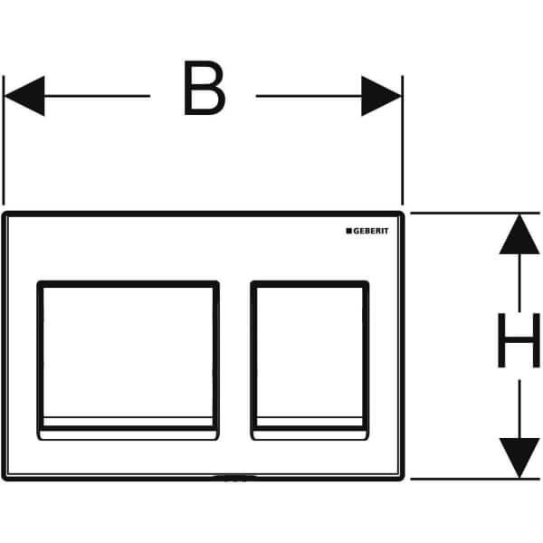 Geberit Alpha 15 Chrome Actuator Plate_Stiles_TechDrawing_Image2