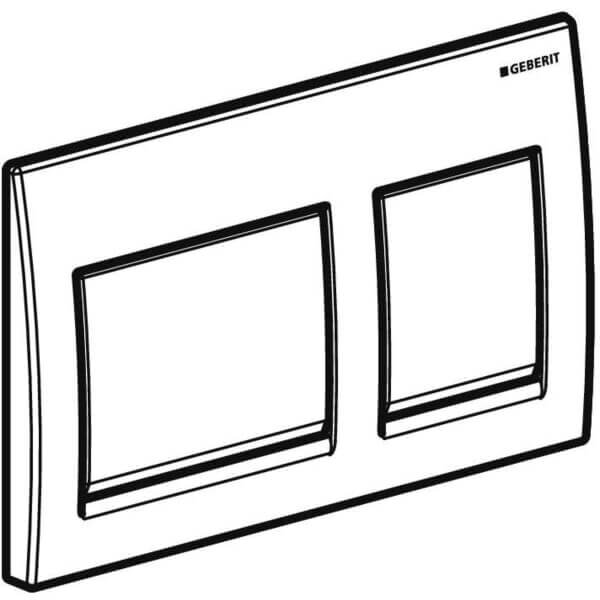 Geberit Alpha 15 White Actuator Plate_Stiles_TechDrawing_Image