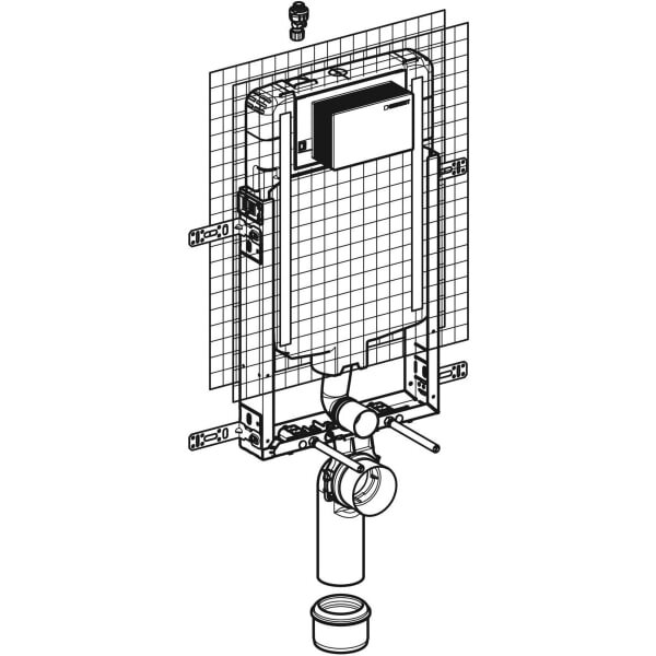 Geberit_110.179.00.1_Geberit Kombifix element for wall-hung WC, 109 cm, with Alpha concealed cistern 8 cm_tech1