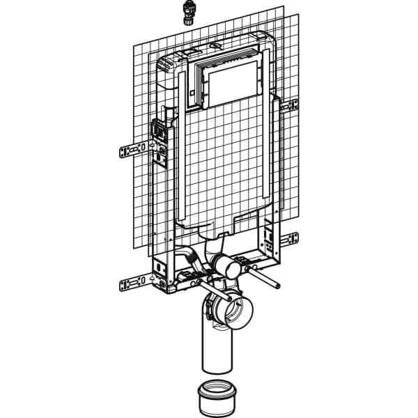 Geberit_110.798.00.1_Geberit Kombifix element for wall-hung WC, 109 cm, with Sigma concealed cistern 8 cm_tech1