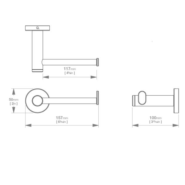 LR2301 LR Lavish Paper Holder_Stiles_TechDrawing_Image