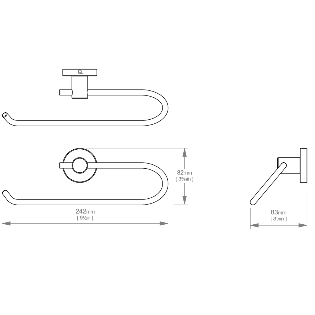 LR2341 LR Lavish Open Towel Ring_Stiles_TechDrawing_Image